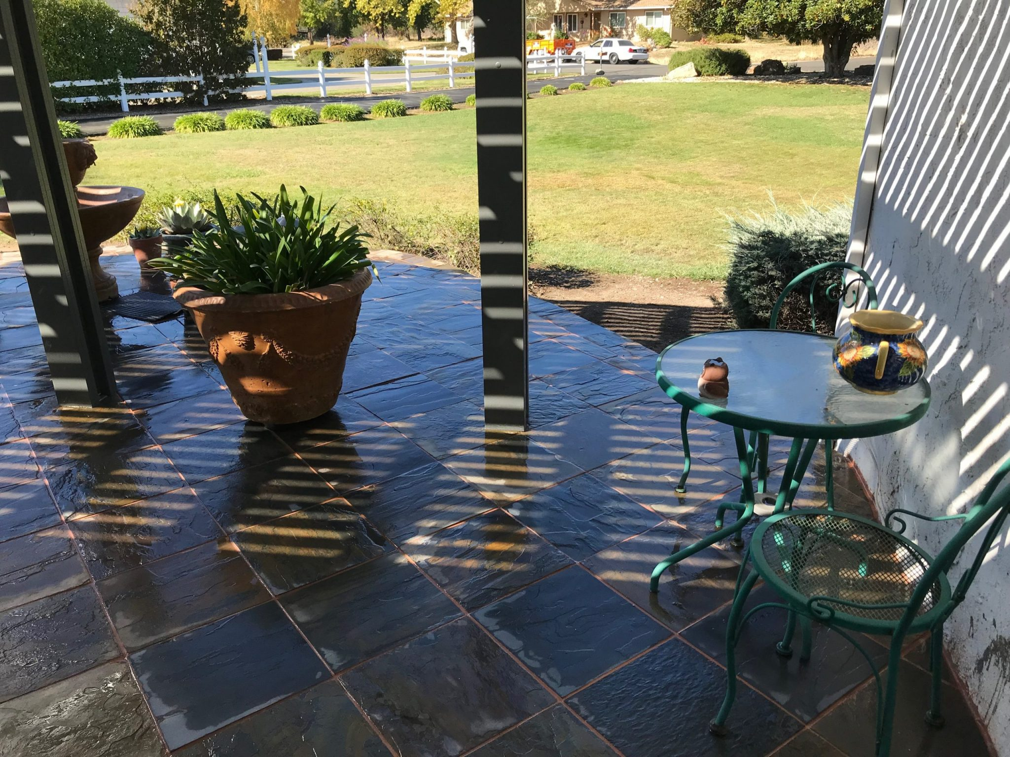 this image shows concord concrete masonry stamped concrete patio