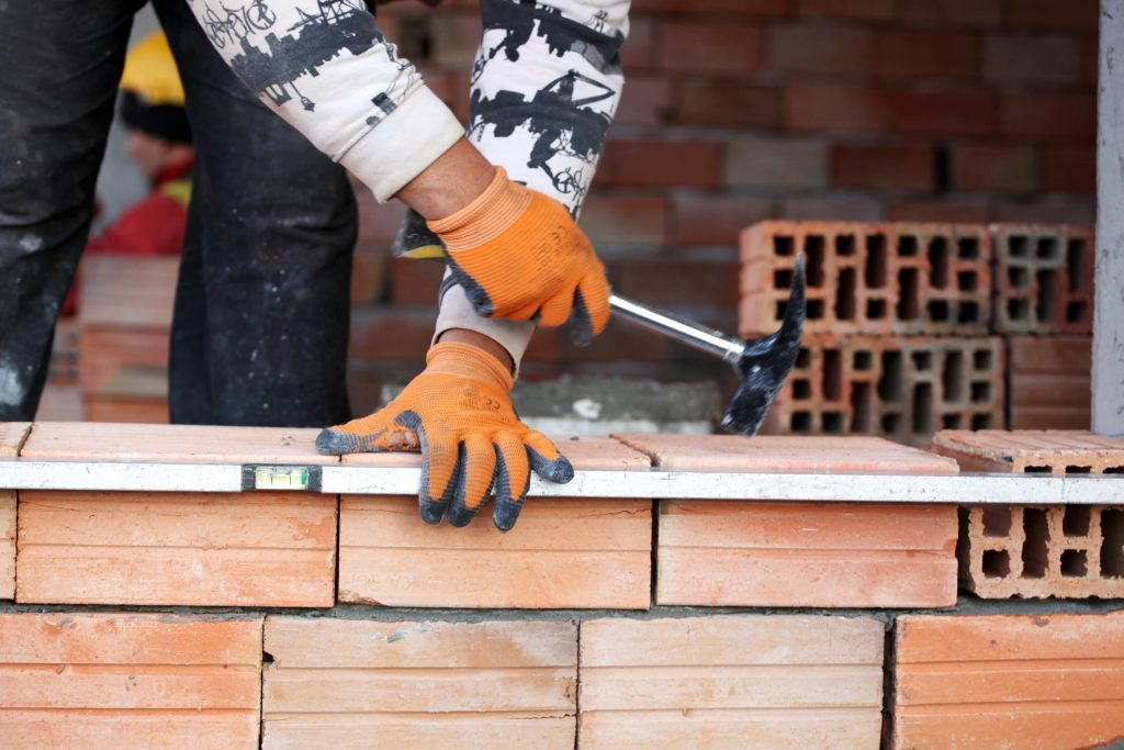 this image shows concord concrete masonry bricklayer at work