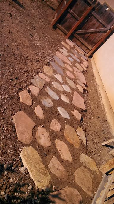 this image shows flagstone patio by concord concrete and masonry