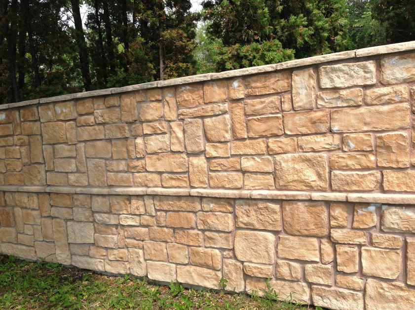 this image shows brick retaining wall in concord california