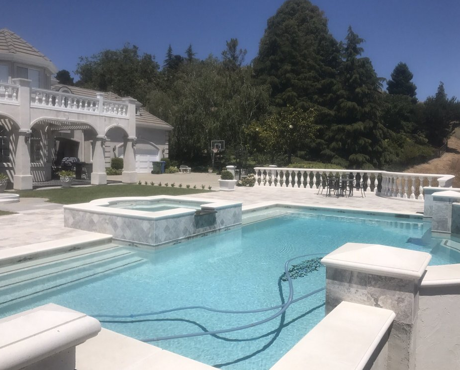 this picture shows concrete contractor pool deck concord