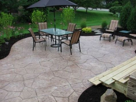 this is an image of concrete patio in concord california