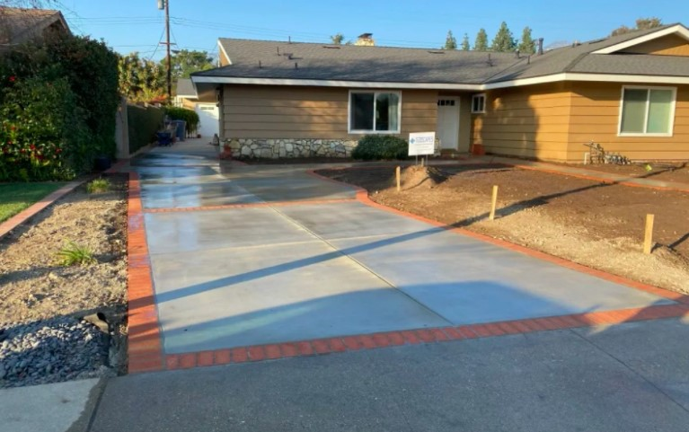 this image shows concrete driveway in Concord, California