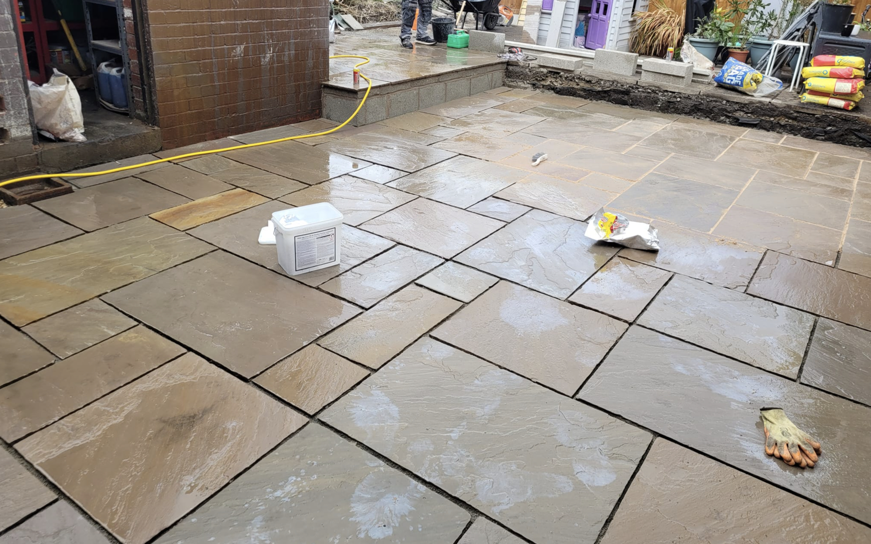 this image shows concrete finishing in Concord, California