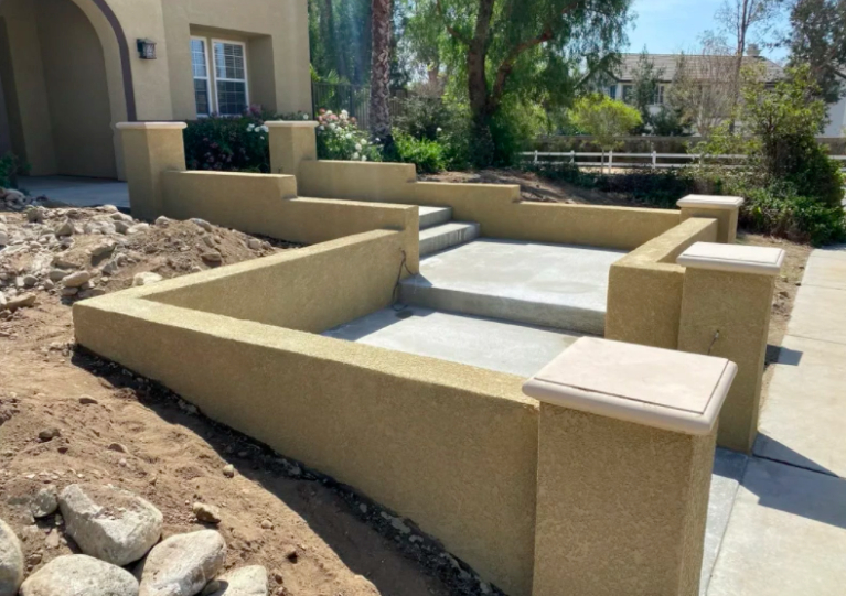 this image shows concrete steps in Concord, California