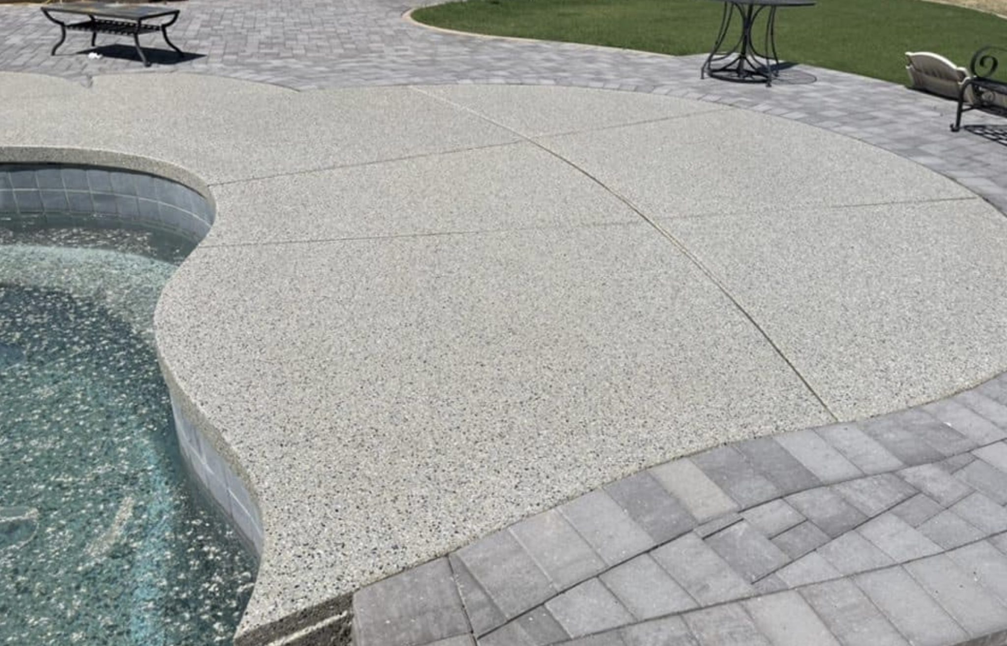 this image shows pool deck in Concord, California