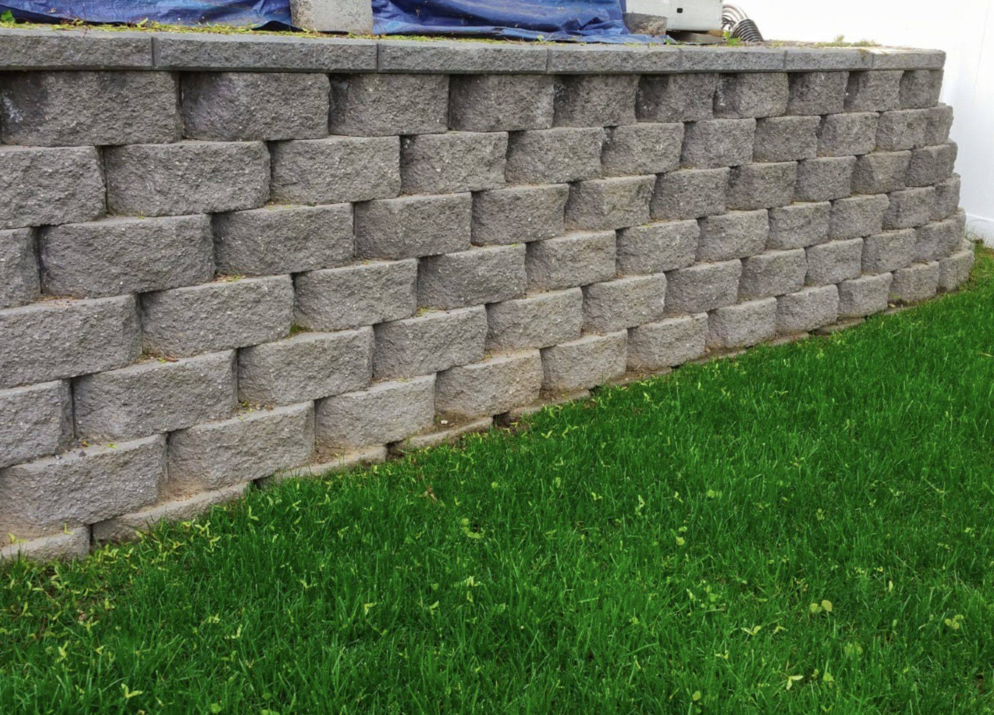 this image shows retaining walls in Concord, California