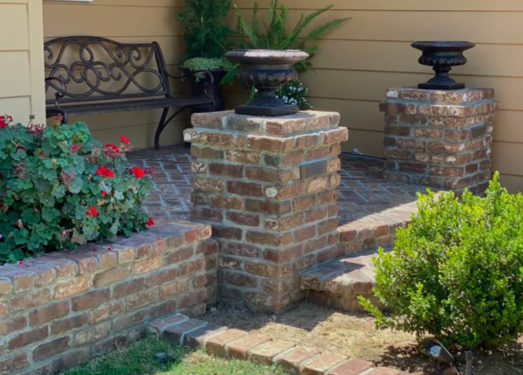 this image shows stone masonry in Concord, California