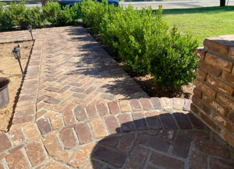 this image shows stone pavements in Concord, California