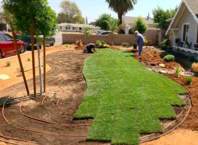 this image shows turf installation in Concord, California